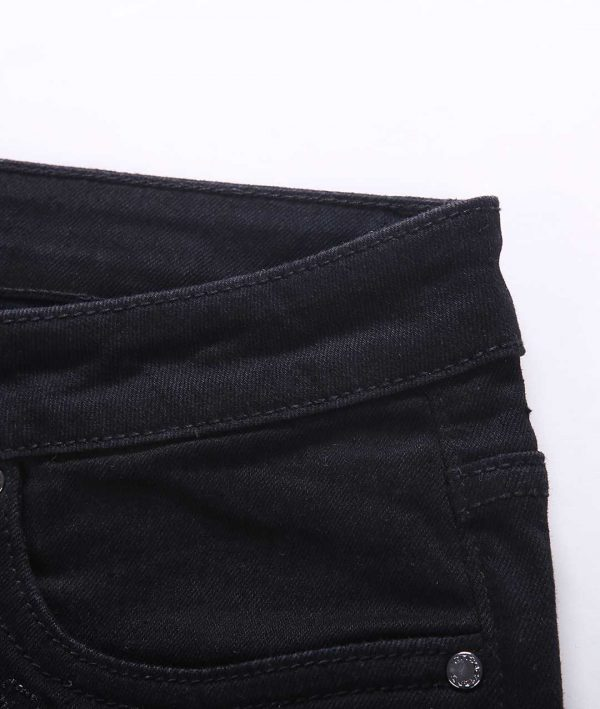 zeebra jeans Ladies Black Denim Emb